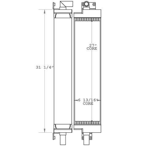 270046 - Case 855D Oil Cooler Oil Cooler