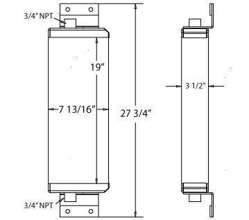 270072 - Street Sweeper Oil Cooler Oil Cooler