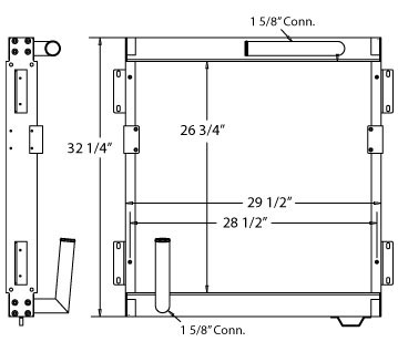 270091 - Samsung SE210 Excavator Oil Cooler Oil Cooler