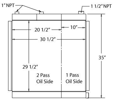 270099 - Industrial Oil Cooler Oil Cooler
