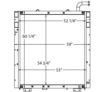 270112 - Komatsu PC1250-LC8 Oil Cooler Oil Cooler