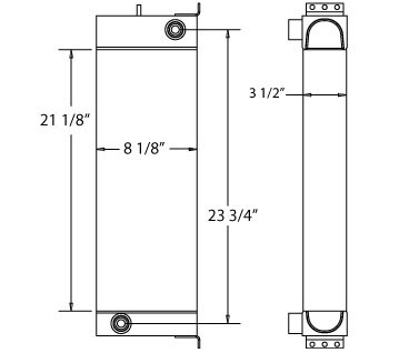 270132 - JCB Oil Cooler Oil Cooler