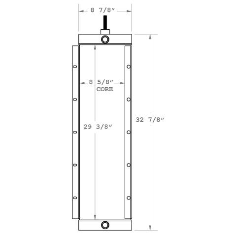 270152 - Komatsu Motor Grader / Dresser A550 Trans Oil Cooler Oil Cooler