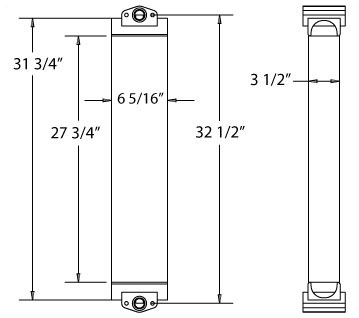 270181 - Komatsu WA150 Excavator Oil Cooler Oil Cooler