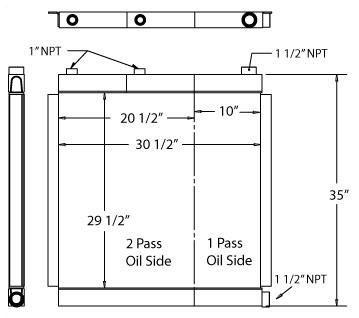 270205 - Industrial Oil Cooler Oil Cooler