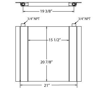 270209 - Industrial Oil Cooler Oil Cooler