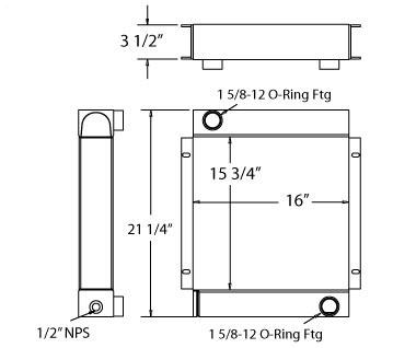 270211 - Industrial Oil Cooler Oil Cooler