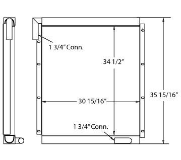 270214 - Industrial Oil Cooler Oil Cooler