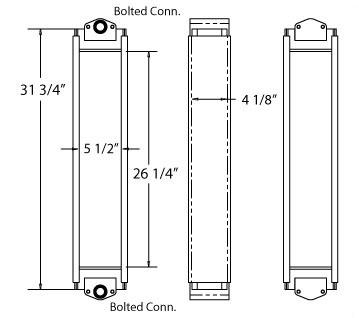 270222 - Komatsu WA150-6 Oil Cooler S/N 85001 - Up Oil Cooler