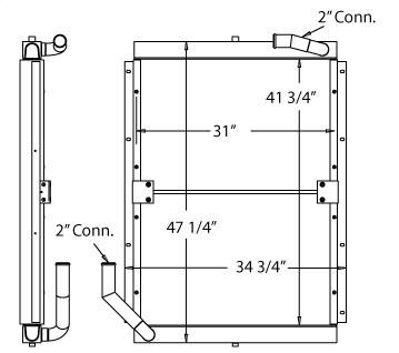 270228 - Industrial Oil Cooler Oil Cooler