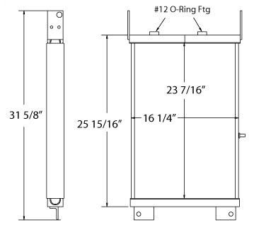 270231 - International Dresser TD8E Dozer Transmission Oil Cooler Oil Cooler