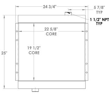 270234 - Industrial Oil Cooler Oil Cooler