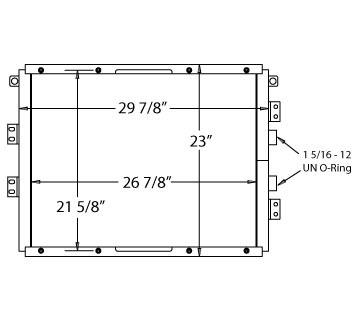 270237 - CATERPILLAR D5 Hydraulic Oil Cooler, D4C Oil Cooler
