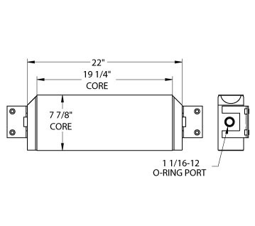 270239 - Elgin Street Sweeper Oil Cooler Oil Cooler