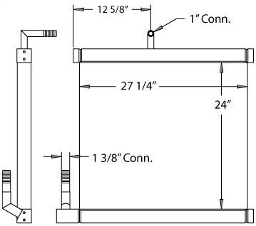 270293 - Case CX135SR Oil Cooler Oil Cooler