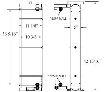 270297 - Hyundai HL740-7 Loader Transmision Oil Cooler Oil Cooler