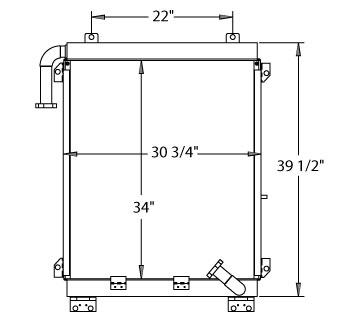 270323 - Komatsu Excavator / Mobile Crusher Oil Cooler Oil Cooler
