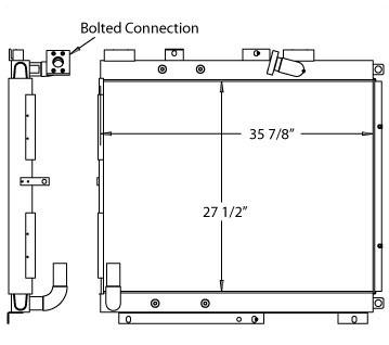 270343 - Case 9030B Hydraulic Oil Cooler Oil Cooler