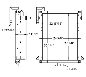 270346 - Kobelco 905 Oil Cooler Oil Cooler