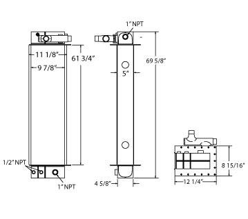270347 - Morbark Chipper Oil Cooler Oil Cooler