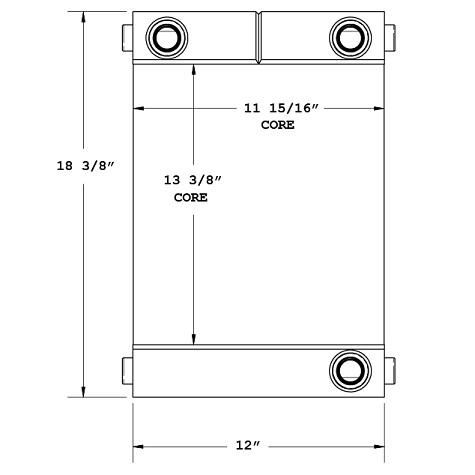 27-0361 - Industrial Oil Cooler Oil Cooler