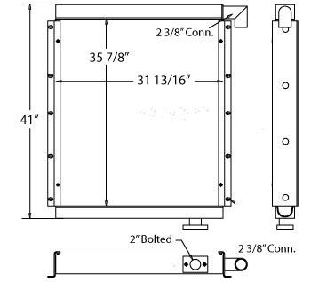 270383 - Hitachi EX400 Excavator Oil Cooler Oil Cooler