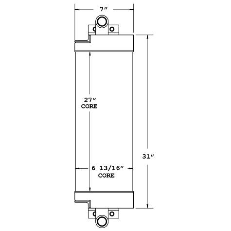 270389 - Case 850K Series 2 Dozer Oil Cooler Oil Cooler