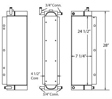 270412 - John Deere 710D Transmission & Hydraulic Oil Cooler Oil Cooler