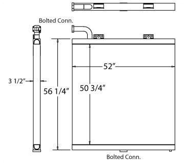270422 - Komatsu PC1000LC Oil Cooler Oil Cooler