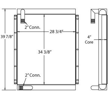 270429 - Link-Belt LS4300 Excavator Oil Cooler Oil Cooler