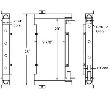 270430 - Ford 555C Back Hoe Hydraulic Oil Cooler Oil Cooler