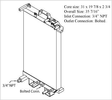 270431 - Komatsu D31, D37, D39, Bulldozer Oil Cooler Oil Cooler