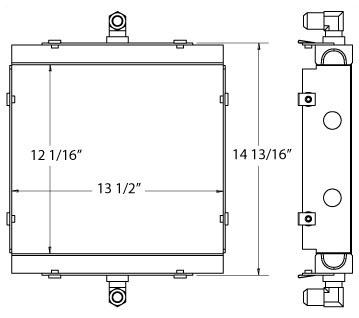 270437 - Diamond Hydralic Air Compressor Oil Cooler