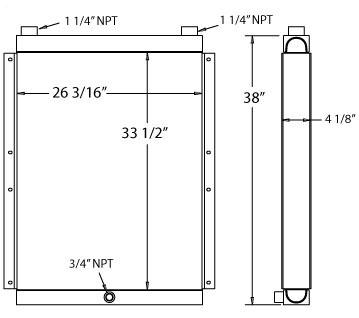270441 - Loader Oil Cooler Oil Cooler