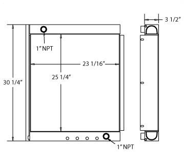 270448 - Industrial Oil Cooler Oil Cooler