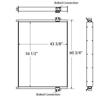 270459 - Sullair 900XHH Oil Cooler Oil Cooler