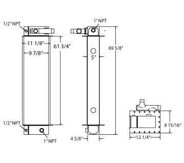 270468 - Morbark 6600 Wood Hog Horizontal Tub Grinder Oil Cooler Oil Cooler
