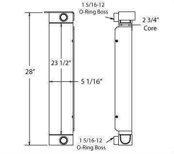 270479 - Industrial Oil Cooler Oil Cooler