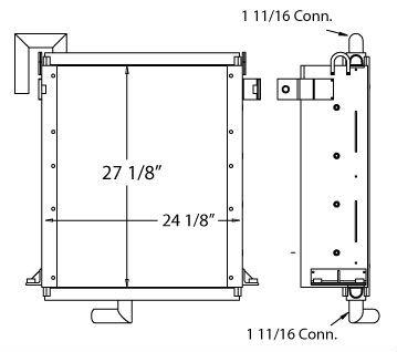 270480 - John Deere 590D Excavator Oil Cooler Oil Cooler
