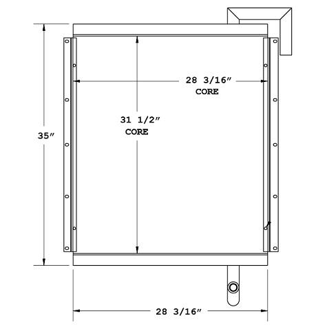 270490 - Industrial Oil Cooler Oil Cooler