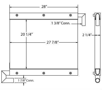 270496 - Hitachi / John Deere Oil Cooler Oil Cooler