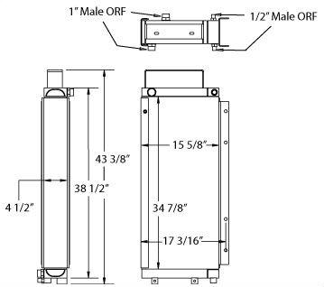 270497 - John Deere Timberjack Oil Cooler Oil Cooler