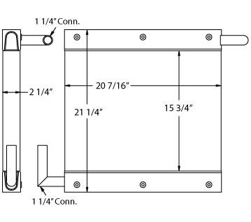 270500 - Industrial Oil Cooler Oil Cooler