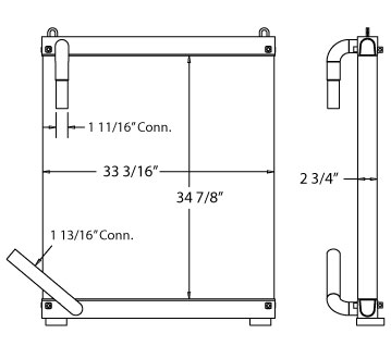 270505 - Hitachi EX270LC-5 Oil Cooler Oil Cooler