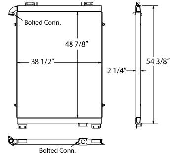 270520 - Komatsu Oil Cooler Oil Cooler