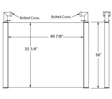 270522 - Case / Link-Belt Excavator Oil Cooler Oil Cooler