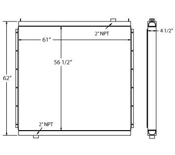 270531 - Ingersoll Rand Compressor Oil Cooler Oil Cooler