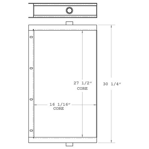 270532 - Sullair Oil Cooler Oil Cooler