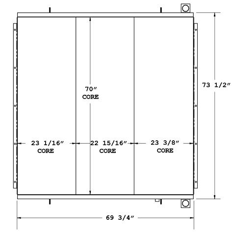 270533 - Ingersoll Rand Compressor Oil Cooler Oil Cooler