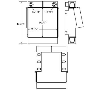 270535 - Sander for Salt Truck Oil Cooler Oil Cooler